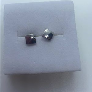 Small Petite Square Earrings